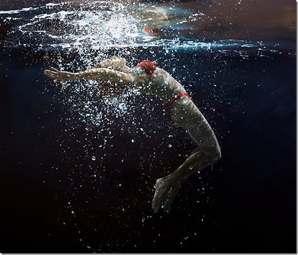 Eric Zener - somersault 54x66 oil on canvas 2010