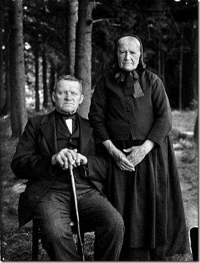 August Sander  - Campesino y su mujer, 1912