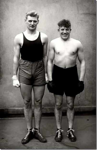 August Sander  - Boxer Paul Rodersten und Hein Heese, Köln, 1928