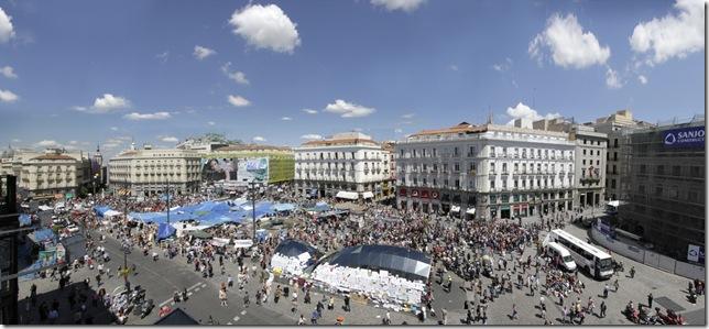Acampada 15 Mayo en Puerta del Sol. Indignados. Pablo Echavarri