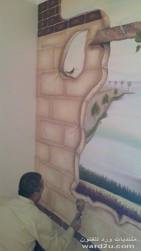مجموعه جداريات جديده  لاكيه مطفى مع الوان زيت