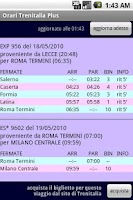 Screenshot of Italian Trains Timetable PLUS