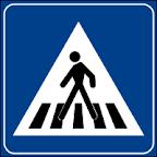 Gājēju pārejas zīme Itālijā