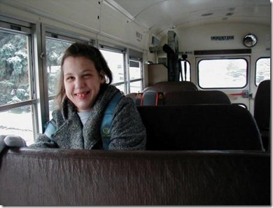 Taylor on the bus