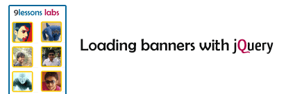 loading banners with jquery