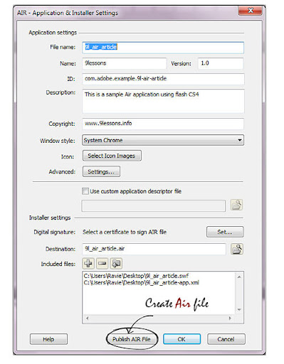 adobe air digital certificate