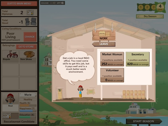 Ayiti screenshot - Marie secretary