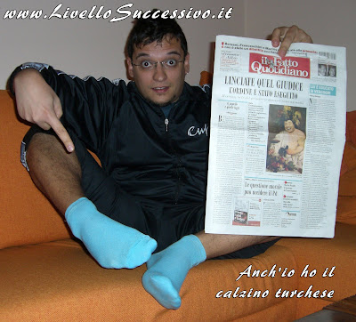 Anch'io ho i calzini turchesi!
