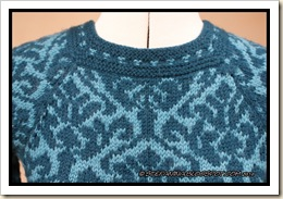 Forest sweater- close-up neck