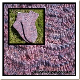 Maripurple socks - montage