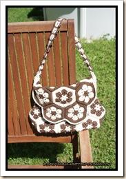 African flower bag - front