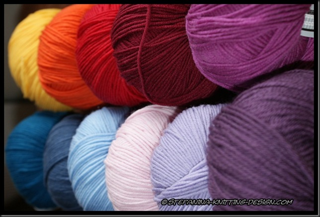 Crochet a rainbow - yarn choice