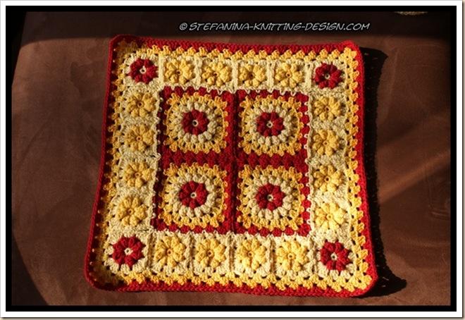 Granny floral square  - cushion 1