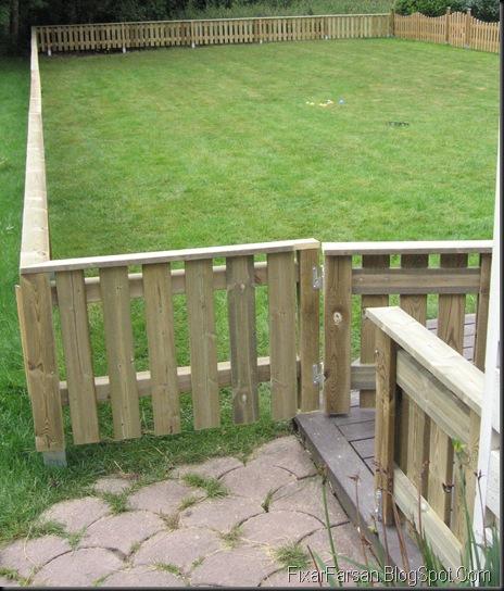 Staket staket tryckimpregnerat : Bygga staket själv i tryckt virke (Bilder/Tips) | FixarFarsan