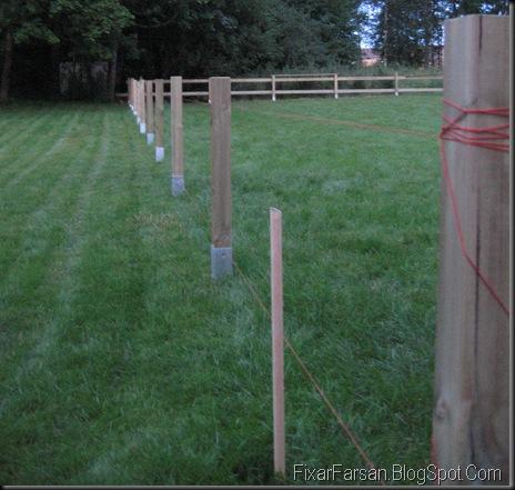 Bygga staket själv i tryckt virke (Bilder/Tips) | FixarFarsan : staket tomt : Staket