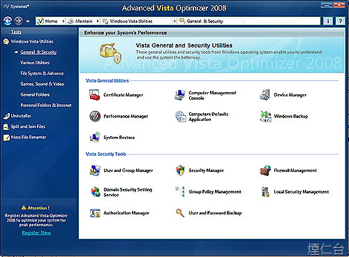 Advanced Vista Optimizer 2008-10
