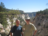 Matt and Greg in front of Jolley Gultch Photo