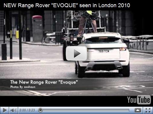 Video–Land Rover Evoque é flagrado pelas ruas de Londres