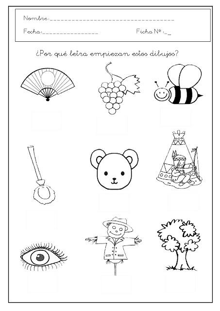 Aprende a escribir las vocales fichas de las vocales for Actividades para jardin de infantes