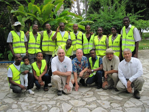 Our Montgomery County CERT Haiti team with the Montrouis Lifesavers' our sister team in Haiti.