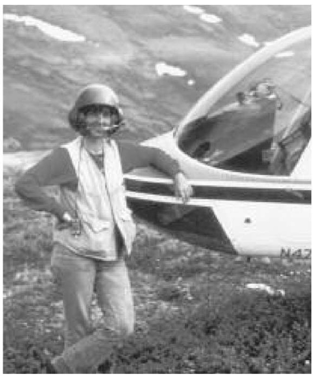Some of Gail Ashley's research requires her to be airlifted in by helicopter, especially that in Alaska