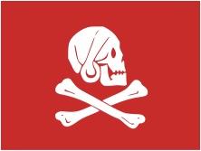 """Nome que carrega muita história, """"Jolly Roger"""" ... Henry%20Avery%20Jolly%20Roger%20Red"""