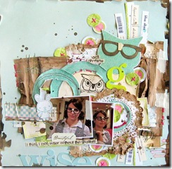 michelle Clement scrapbook page