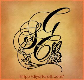 composizioni per tre maiuscole intrecciate: SCG tatuaggio | tattoo