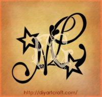 Letters tattoo designs Disegni con le lettere stilizzate di alfabeto