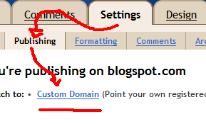 Custom Domain Blogspot