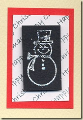 mounted snowman small