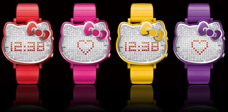 Chouette ♥ Hello Kitty Message LED Watches