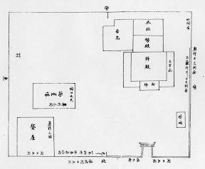 江戸期の末広稲荷社見取図