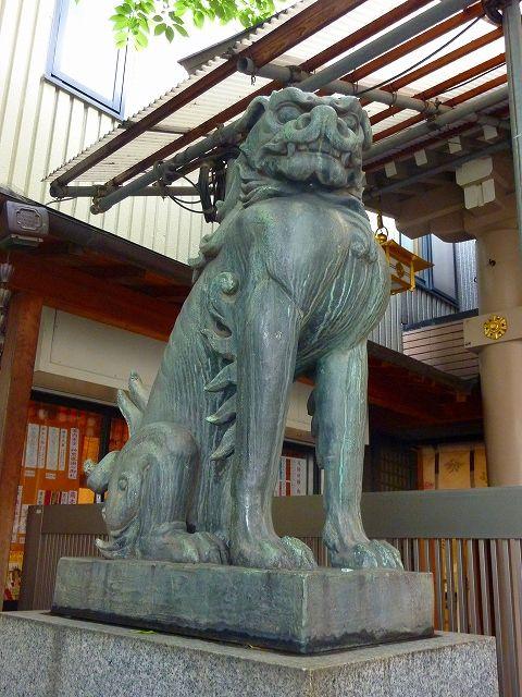 音丸が寄進した十番稲荷神社狛犬