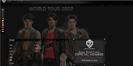 Tour jonas 2009