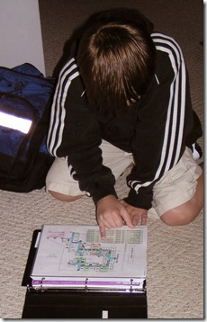 Double checking the map and schedule 2