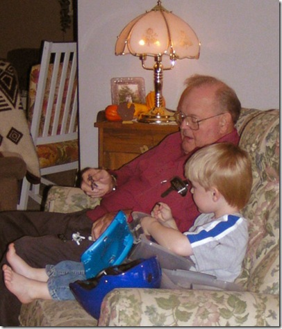 Grandpop and the little guy