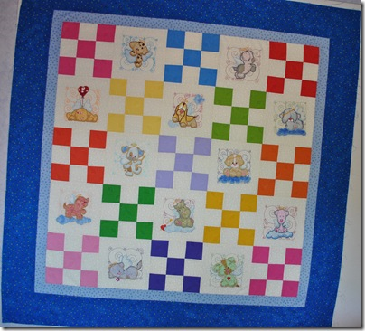 Appliqued Angel Puppies 002