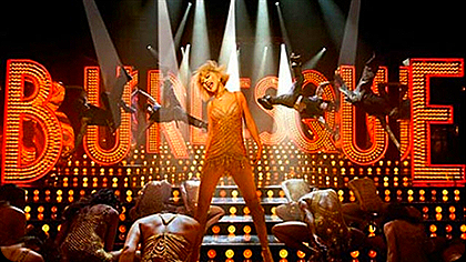"""Christina Aguilera em cena do filme """"Burlesque"""""""