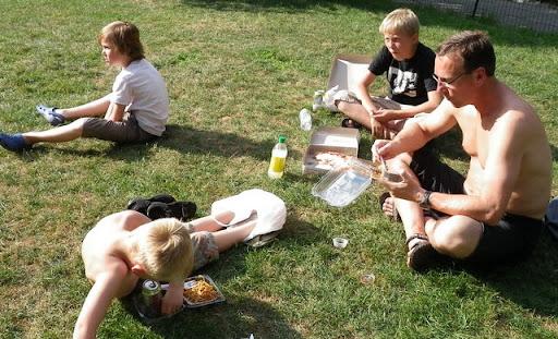 Mat i Central Park