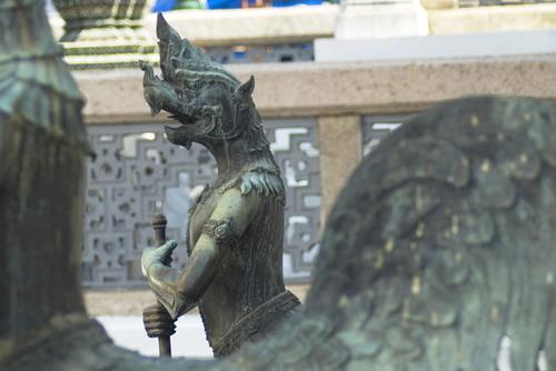 Tantima%20Bird%20%20guarding%20the%20Viharn%20Yod - Some Sculptures in Wat Phra Kaew