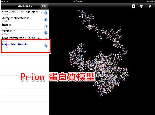 觀看 Prion 蛋白質模型