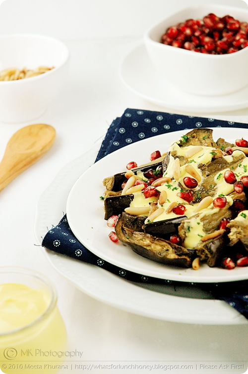 Roasted Aubergine Salad with Saffron Yogurt (01) by MeetaK