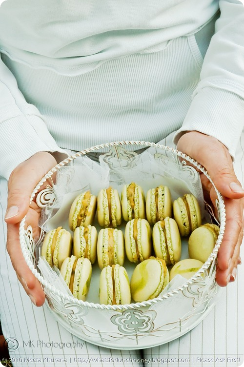 Matcha Macarons with Passionfruit Curd (0005) by MeetaK