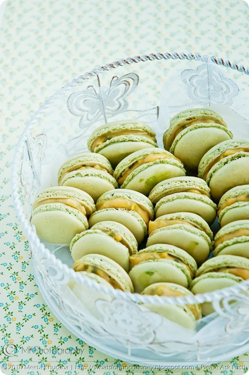 Matcha Macarons with Passionfruit Curd (0081) by MeetaK