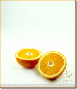 Orange on white 01framed