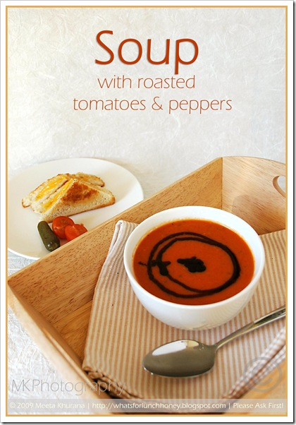 Roasted Tomato Pepper Soup (02) by MeetaK