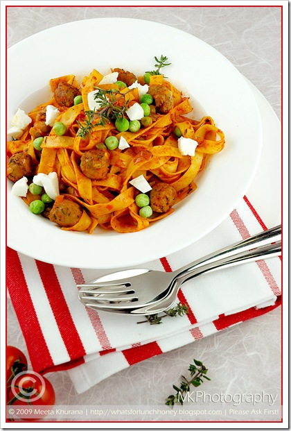 Pasta Spicy Lamb Meatballs (02) by MeetaK