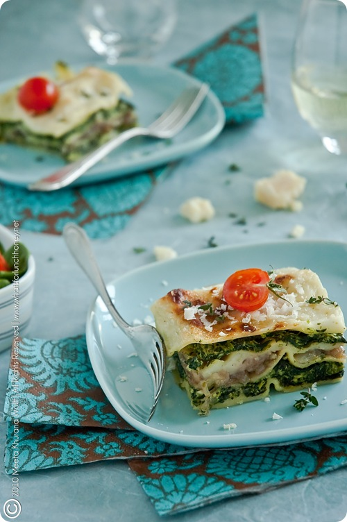 Spinach Caramelised Onion Lasagna (0013) by MeetaJ