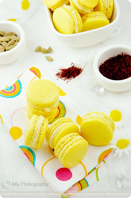 Saffron Cardamom Macarons (05) by MeetaK